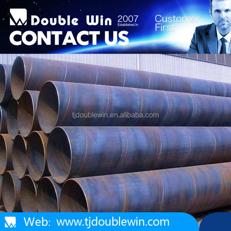 large diameter schedule 40 corrugated spiral welded steel pipe