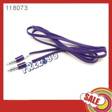 3.5mm Braided Fabric noodle Audio Cable for ipod