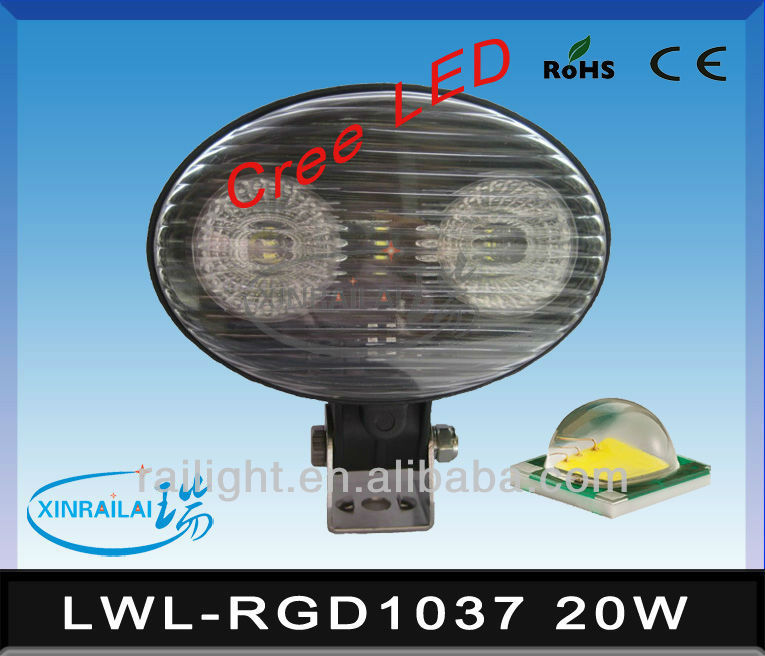 20W super bright cree work light waterproof IP68 RGD1037 LED gas station lights
