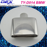car spare stainless steel 304 tuning muffler tips exhaust system for b-mw x5