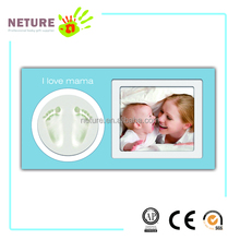 Baby Foot Art Newborn Baby Handprint and Footprint Deluxe Wall Photo Frame & Impression Clay Kit
