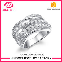 Fashion jewelry 2016 for party 925 italian sterling silver ring with CZ rings for woman and men