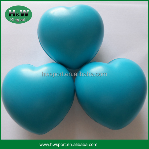 Blue Color Pu Love Heart Stress Ball For Promotional