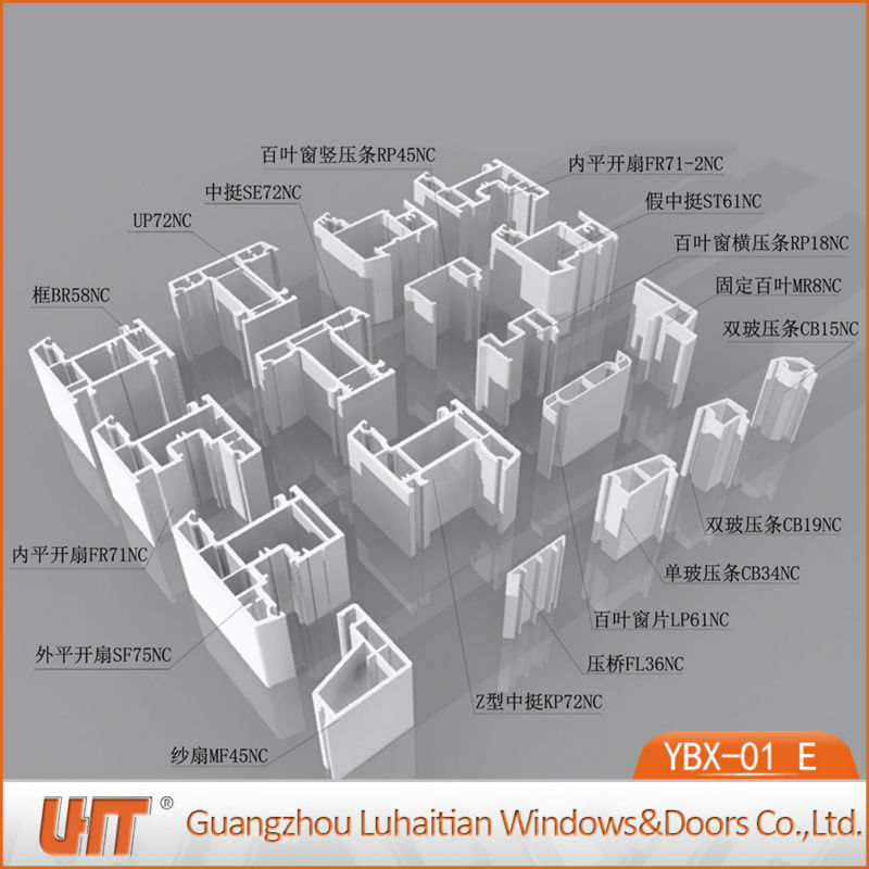 China Competitive Price PVC Extrusion Profile for Window and Door