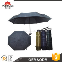 "23""x8 panels windproof man business black 3 fold umbrella"