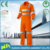 hot sale orange cotton-polyester reflective safety coverall working men life coverall