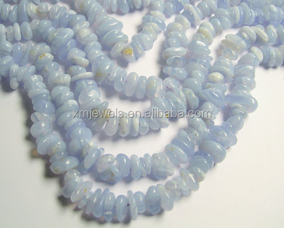 Blue Lace Agate bead Nugget Chip stone, A quality approx 9mm to 11mm