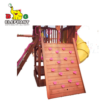 playground parts kid wood outdoor rock climbing wall