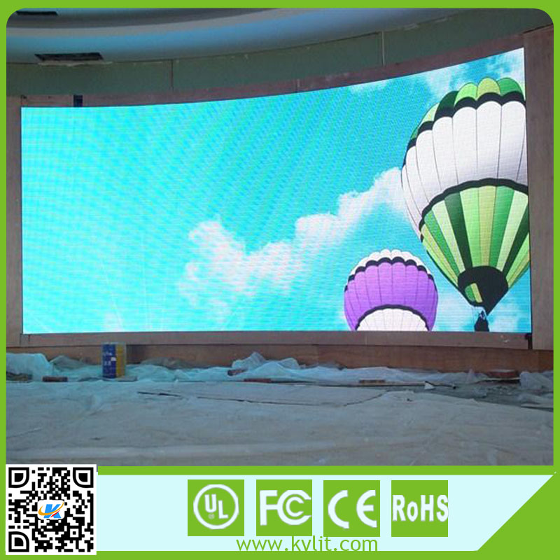 Pixel Pitch 6mm super-thin flexible led screen display / full color led video panel / rental stage background led display bi