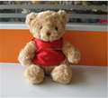Custom 2016 hot sale plush teddy bear with red t-shirt