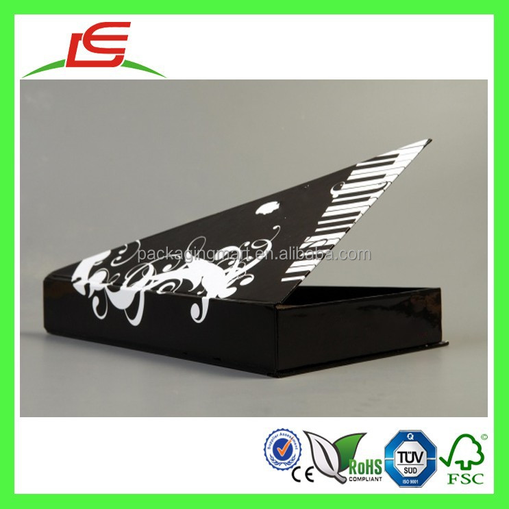 Q1063 China Wholesale Custom Cardboard Triangle Shape Items, Piano Pattern Shaped Box