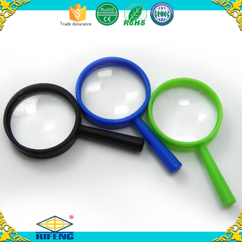 5x25mm mini magnifying glass Promotion Gift coin size pocket cheap plastic magnifier