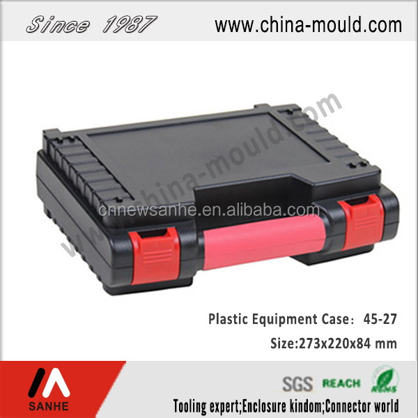 small plastic equipment carrying case
