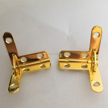 Decorative shining gold L hinge for wooden jewelry box
