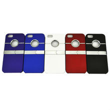 Stand metallic case metal for iphone case for iphone 5 with top quality