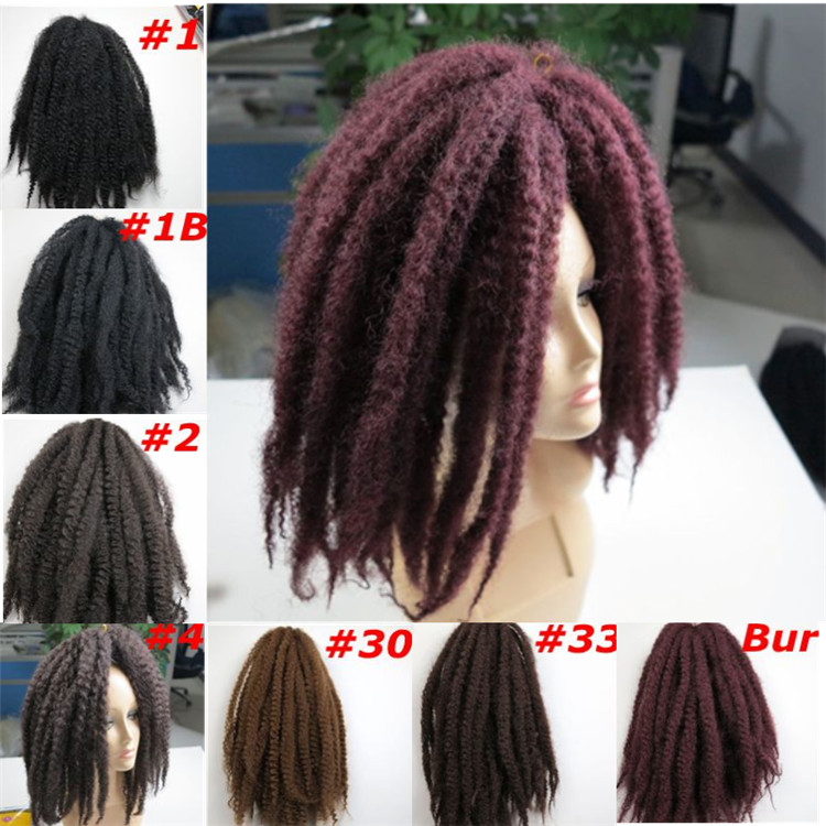 Afro Kinky Marley Braids Hair 20inch 110g Synthetic Braiding Twits