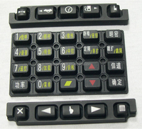 OEM/ODM Remote control rubber button/conductive silicone rubber buttons