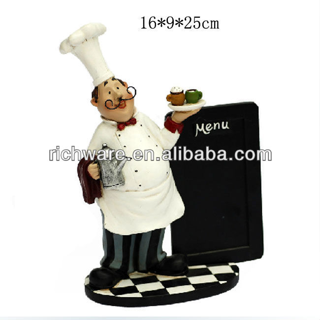 resin volume beard chef message board decoration