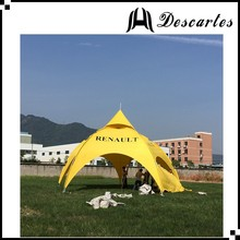 6m yellow commercial arch tents/advertising spider tents/geodesic dome tent