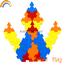 Children toys Plastic new style plug match triangle Building Blocks for kids
