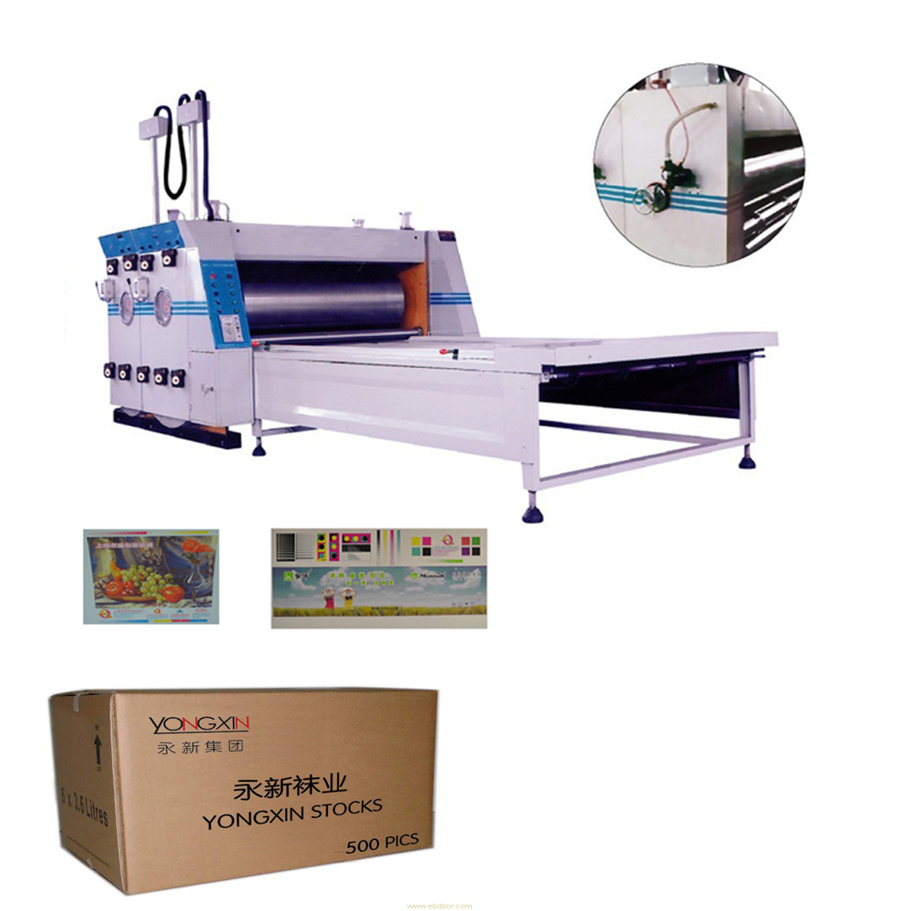 High speed carton making packing machine corrugated box production line