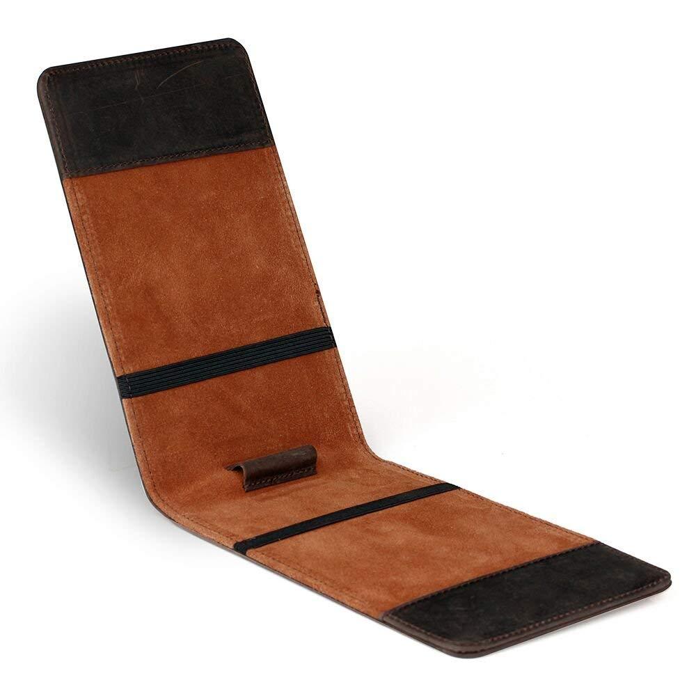Customized genuine leather golf yardage book cover/golf Performance scorecard holder