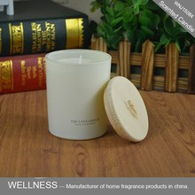 luxury scented wood lid frosted glass candle