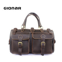 2017 Wholesale Waterproof Large Men Crazy Horse Leather Duffle Bag