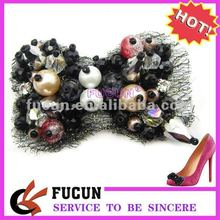 New! Fashion And Popular Wholesale Rhinestone plastic bead Shoes Decoration Accessories