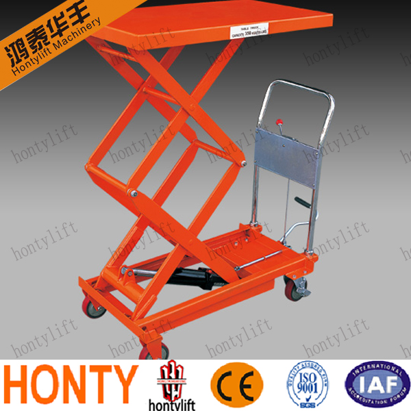 Hot sell Movable Manual or Electric Motor hydraulic table cart trolley scissor lift