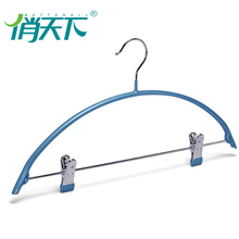 rubber coated adjustable sock metal hangers with clips