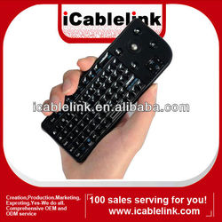 The Latest mini 2.4G wireless keyboard with mouse & laser pointer black