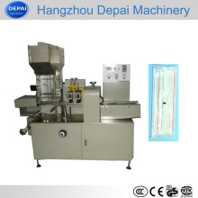 Automatic multiple drinking straw packing machinery