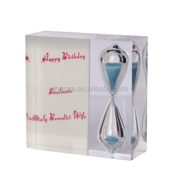 2 Minutes Acrylic Sand Timer Hourglasses Factory