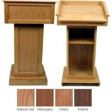 Wholesale wood table and wood showcase design for wood church pulpit