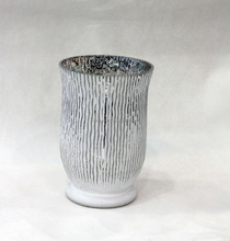 etching bark style white mercury candle holder hurricane for wedding