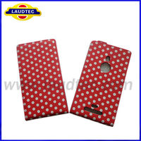 New Arrival Polka Dots Ultra Slim Leather Mobile Phone Case for Nokia lumia 925,for Nokia Lumia 925 Flip Cover Holster