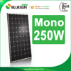 CHINA TOP 10 manufacture mono 250w solar pv module with tuv ce certificate