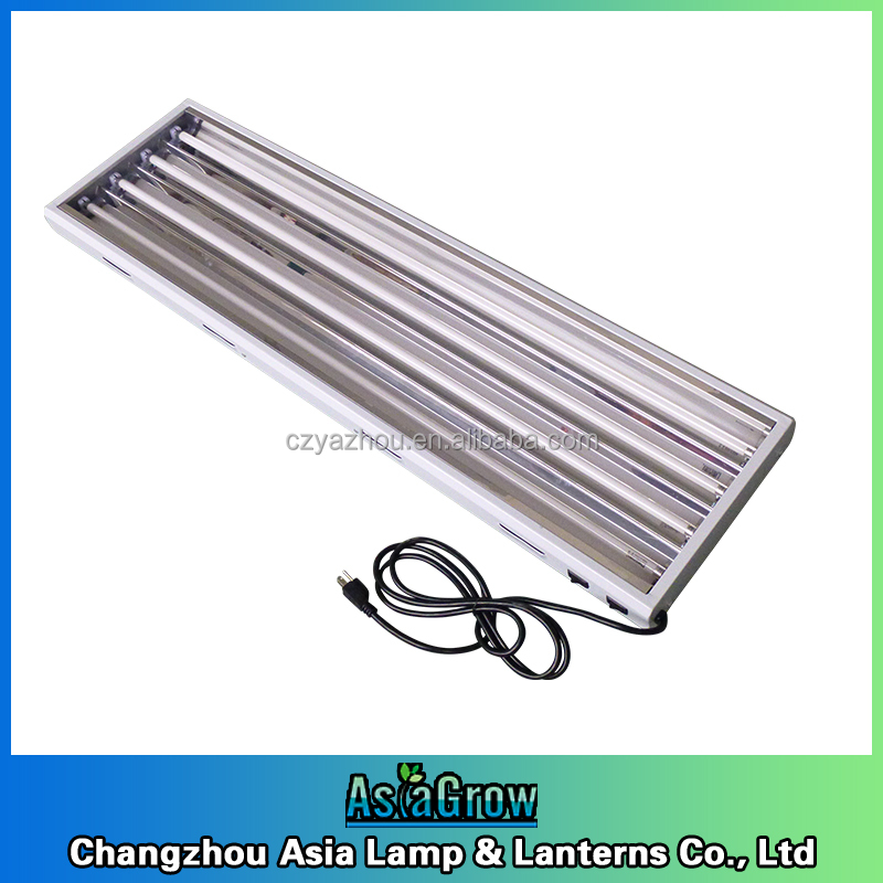 T5 24w/54w HO Fluorescent Tubes fixture with reflector Grow Tent Light hydroponic propagation light UL certificate