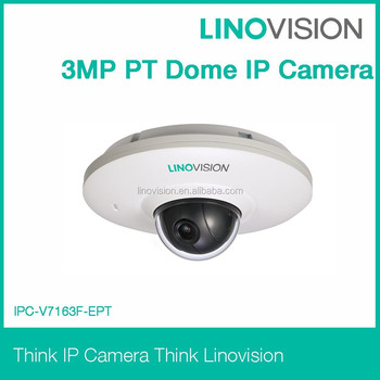 PT Dome 3 Megapixel IP camera with sd card and PoE