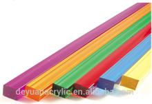 Plastic acrylic square threaded rod and nut