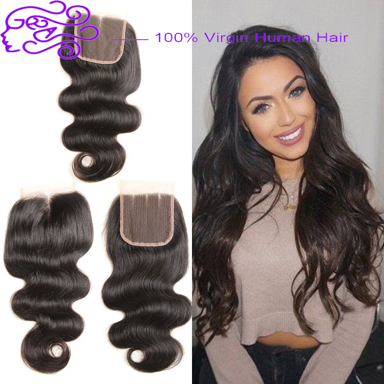 Alibaba Wholesale Double Weft Raw Virgin Brazilian Body Wave Hair With Middle/Free/Three Part Closure Bundles