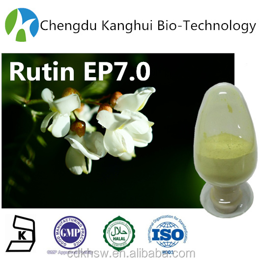 Antioxidant enzyme Active food supplement Herbal Cosmetic Products Rutin Powder EP 7.0 250249-75-3 plant extracts