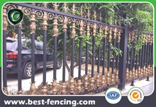 Custom Designed Decorative Aluminum Garrison Fence