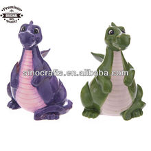 cute ceramic dragon money coin bank for children