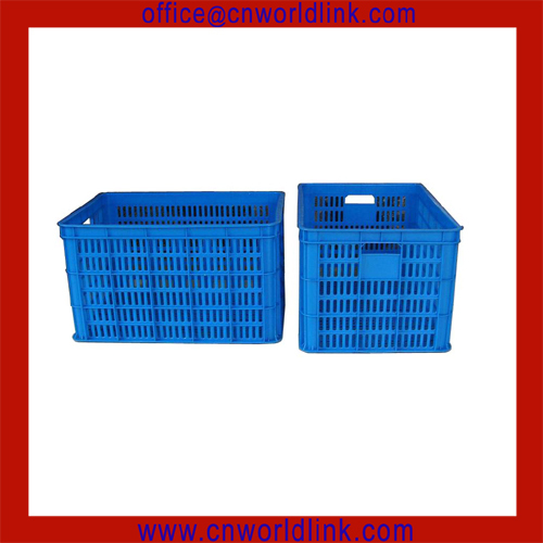 Blue Stackable Fruits Plastic Wire Crate
