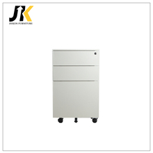 White metal heavy duty rolling small locking file cabinet