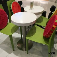 Coffee Shop Round Solid Surface Table and Chairs
