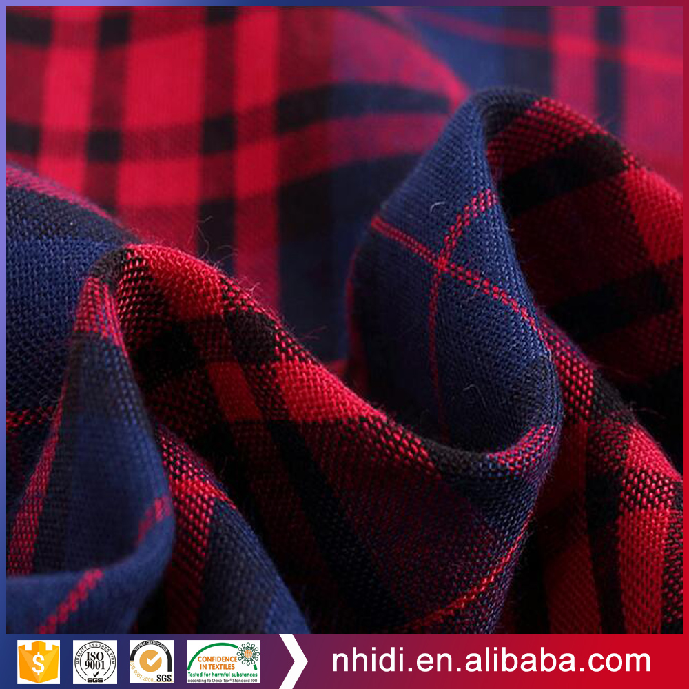 100 Combed Cotton Yarn Dyed Mono Gingham Checks Fabric