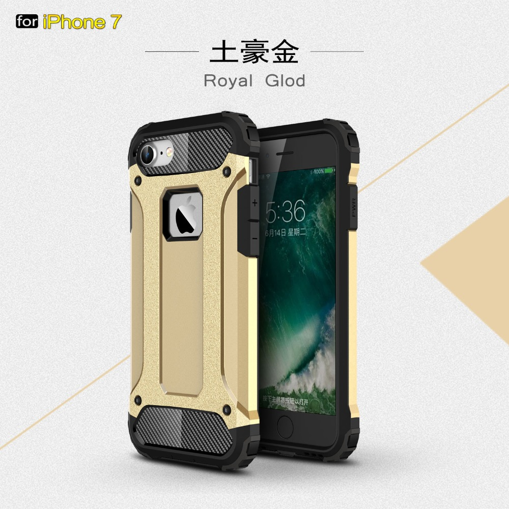 Plastic Hard Shell Hybrid Heavy Duty Shockproof Armor Phone Case For iphone 7 case